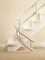 Parkurve 180° :: die Fahrschiene kann auf der innen und außenseite der Treppe montiert werden