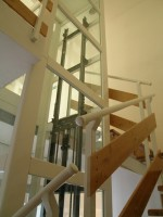 Hebelift Edelstahl :: Treppenausgleichspodest mm